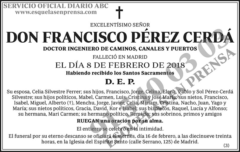 Francisco Pérez Cerdá